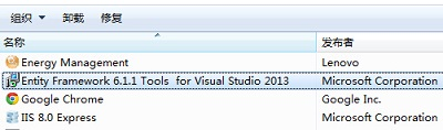 Entity Framework Tools For Visual Sudio 2013